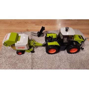 Traktor zabawka Claas Xerion 5000 + akcesoria