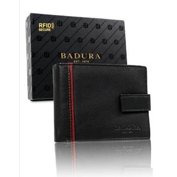 Duży portfel męski z technologią RFID SECURE