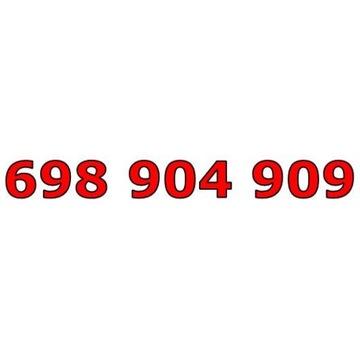 698 904 909 T-MOBILE ZŁOTY NUMER TYLKO 3 CYFRY