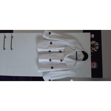 biały żakiet/płaszczyk firmy camaieu rozmiar 40/42