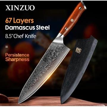"""Nóż szefa kuchni 8,5"""" 60Hrc bardzo ostry"""