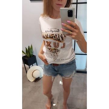 T-Shirt damski zdobiony kamieniami