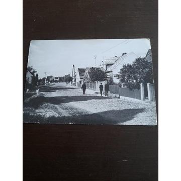Pocztowka czarno-biala.Dąbrowa Wielkopolska.Rok 68