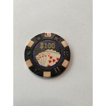 Żeton do pokera 100$ (vintage)