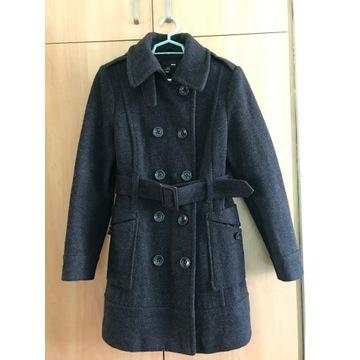 Płaszcz damski H&M jesień- zima wełniany roz. 40