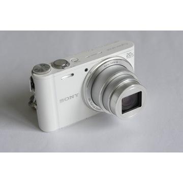 Aparat SONY DSC-WX300 Biały Zadbany aparat cyfrowy