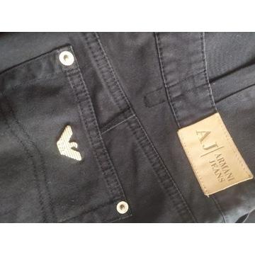 Armani Jeans spodnie czarne r.S