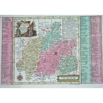 1740 MAPA POLSKA ŚLĄSK ŚWIDNICA WAŁBRZYCH STRZEGOM
