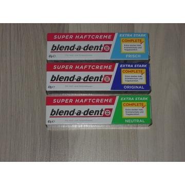 Klej do protez blend-a-dent 3rodzaje produkt z DE.