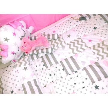 Pościel dziecięca do łóżeczka, patchworkowa poście