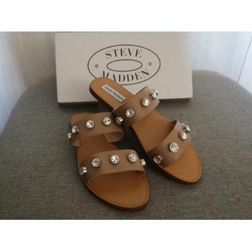 Steve Madden oryginalne skórzane sandały/klapki