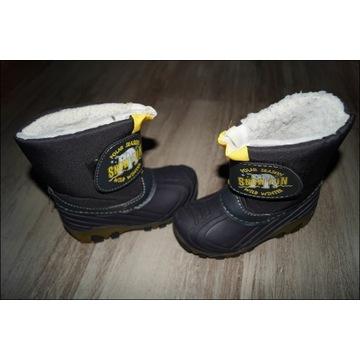 Buty śniegowce święcące podeszwy rozm. 26 wkł.16cm