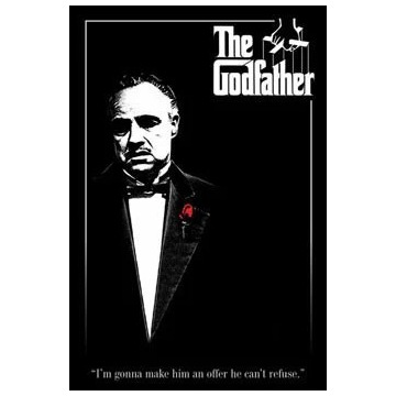 Plakat THE GODFATHER - red rose  61,5x91