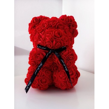 Miś z Róż 25 cm IDEALNY PREZENT !