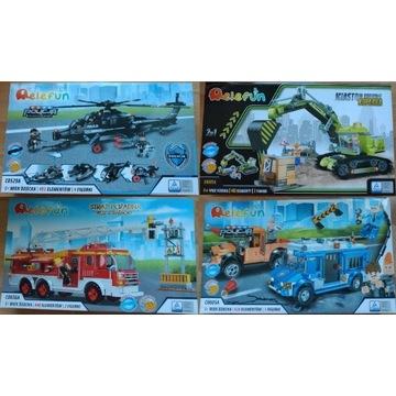 Ekstra zestaw klocków, ponad 400el. komp. z LEGO