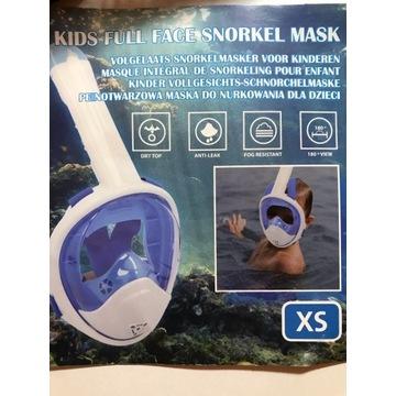Pełnotwarzowa maska do nurkowania. Licytacja 1zł