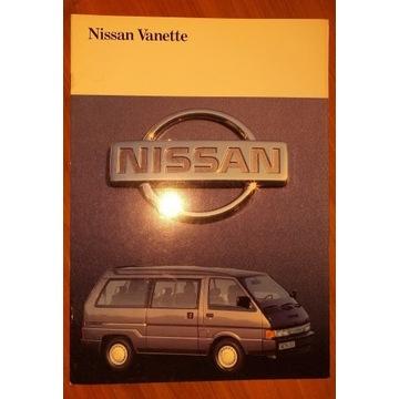 Prospekt samochodowy 22 str NISSAN VANETTE lata 90
