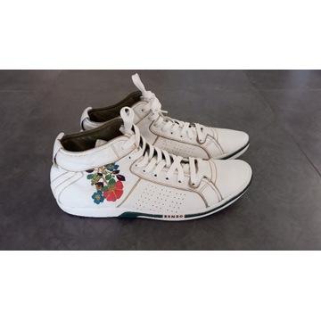 buty KENZO skórzane trampki 42 haftowane jak NOWE