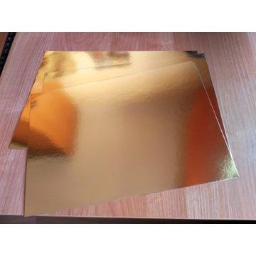 Papier złoto lustro lustrzany gold10 szt FORMAT A4