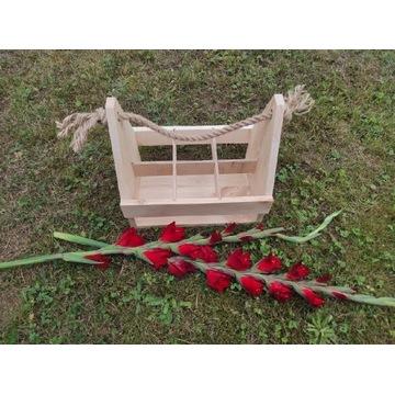 Skrzynka drewniana prezent dekoracja duża