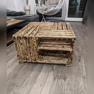 Stolik kawowy loft drewniany