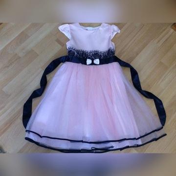 Elegancka wyjściowa sukienka Mała Lady 140cm, cudo