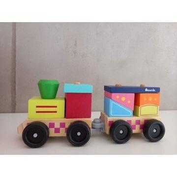 Pociąg - drewniana układanka