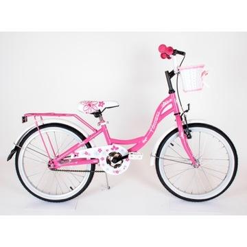 """Nowy Rower dla dziewczynki Flowers 20"""" różowy"""