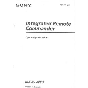 Instrukcja SONY RM-AV300 angielska