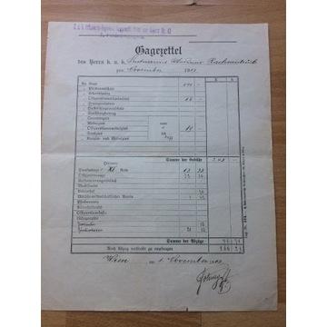 Osobisty dokument Gen. WP- RZADKIE