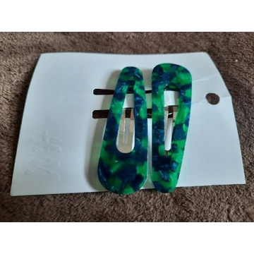 Spinki zielone marmurkowe zestaw H&M