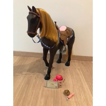 Duży, ruchomy koń dla lalki 46cm