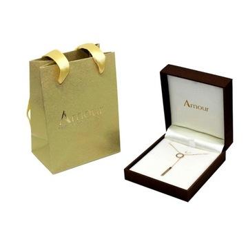 Złoty naszyjnik łańcuszek 585, 14 k prezent