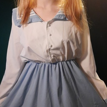 mundurek japoński cosplay anime niebieski