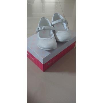 Buciki dla dziewczynki białe roz.28