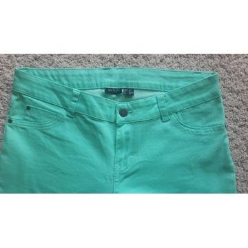 Zielone spodnie, proste