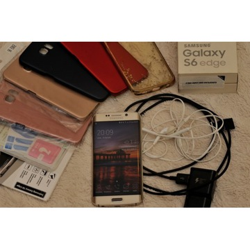 Samsung Galaxy S6 Edge złoty stan bdb + akcesoria!