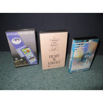 Kasety VHS edukacyjne, specjalistyczne