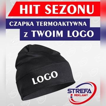 Czapka z logo firmy 10szt- BIEGANIE ROWER, itp