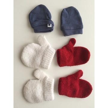 rękawiczki wełniane jesienne 0-6mcy
