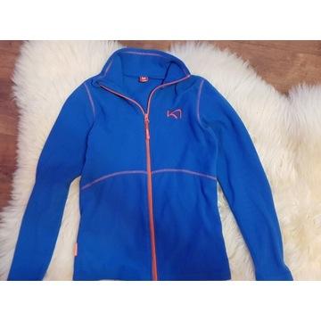 Sportowy wygodny polar KARI TRAA XS niebieski