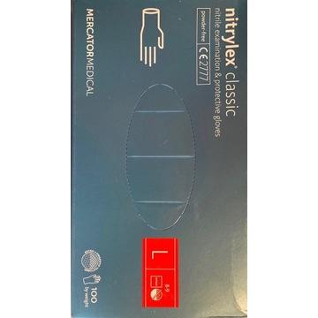 Rękawiczki nitrylowe Nitrylex niebieskie 100szt