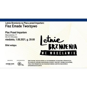 2 Bilety Letnie Brzmienia - Fisz Emade Tworzywo
