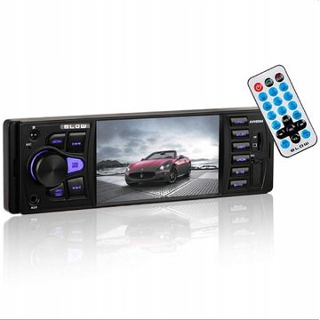 RADIO SAMOCHODOWE BLUETOOTH LCD AUX MP3 USB PILOT