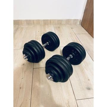 Hantle żeliwne regulowane SPORT BLAST 2x 40 kg