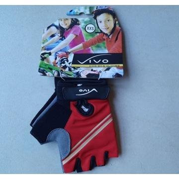 Rękawiczki dziecięce vivo, czerwone, rozmiar XXS