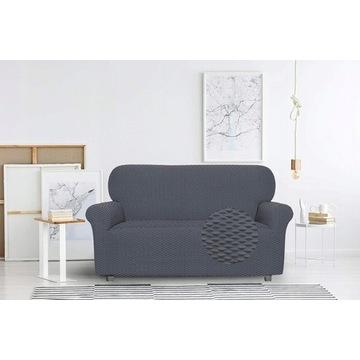 Pokrowiec na sofę Bielastic, ciemnoszary, 2-osob.