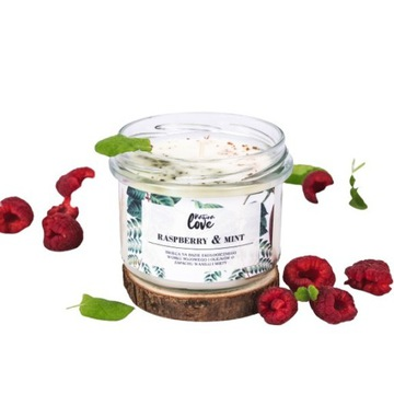 Ręcznie robiona sojowa świeca Raspberry & Mint