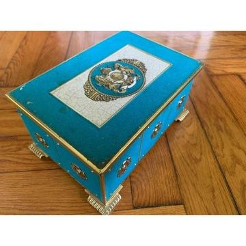 Stara kolekcjonerska szkatułka z Anglii - Antyk