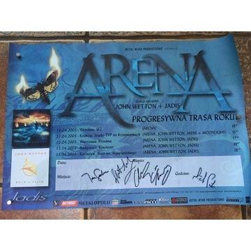 Plakat zespołu Arena z Johnem Wettonem oryginał